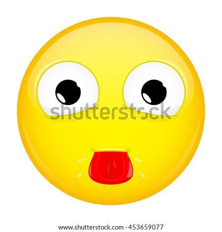 Emoticon Rolling Eyes Smile Icon Isolated Stock Vector