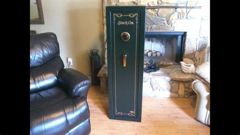 Stack on 8 Gun Safe with combination lock - YouTube