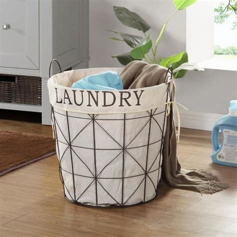 FirsTime 20-Gallon Metal Laundry Basket in the Laundry