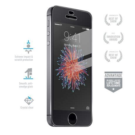 iPhone SE Clear Tempered Glass Screen Protectors, Covers