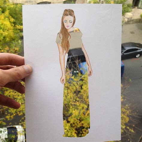Armenian Illustrator Completes His Cut-Out Dresses With