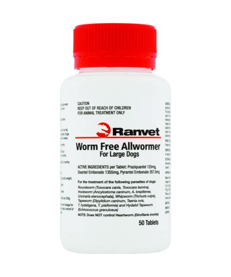 Worm Free All Wormer Large Dog 25kg 50pk