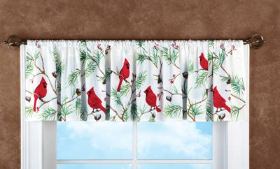 Holiday Cardinal Window Valance from Collections Etc