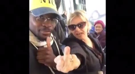 Black Guy Schools White Woman As She Screams Out Racial
