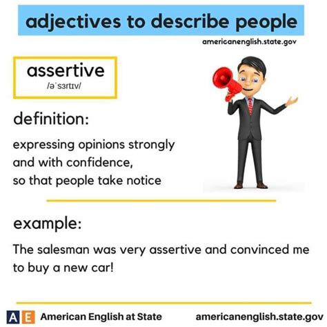 Adjectives To Describe People – Materials For Learning English