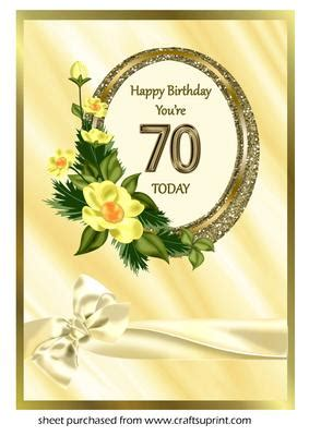 Oval Frame with Flowers 70th Birthday - CUP314690_643
