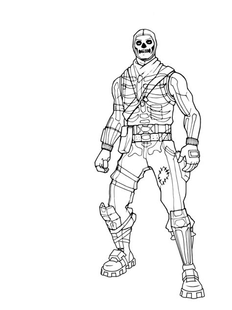 Fortnight coloring pages to download and print for free