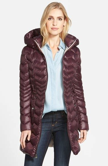 Lyst - Laundry By Shelli Segal Packable Hooded Down Coat