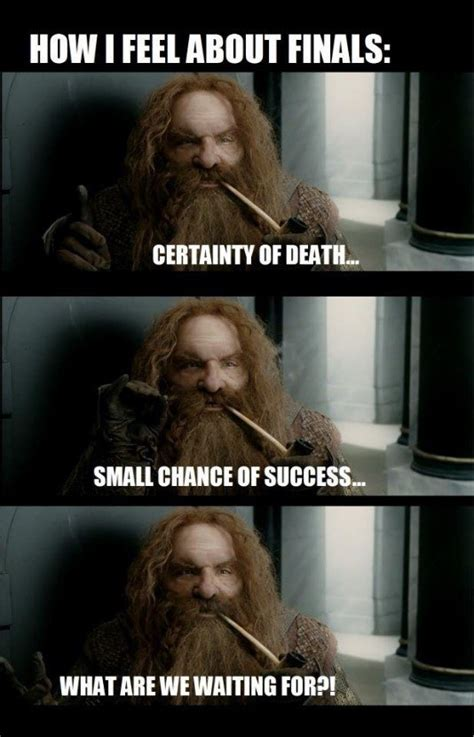 College as Told by The Lord of the Rings Memes