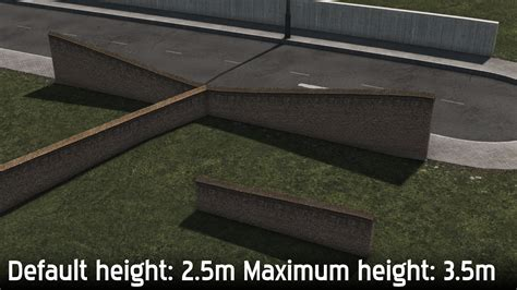 Brick Wall 1 network Mod for Cities Skylines