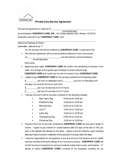 Agreement For Homecare Agency Between Client - Fill Out