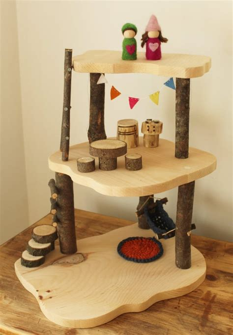 Wooden Tree House Waldorf Toy