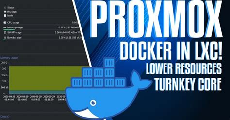 Docker in Proxmox LXC with Turnkey Core – Lower Resources