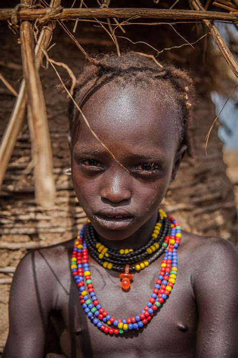 portrait of a child of the tribe Dassanech-lower omo valle