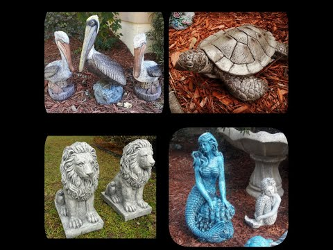 Garden ornaments sitting stone white lion statues outdoor