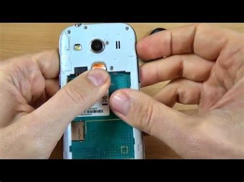 Samsung Galaxy Ace 4 - How to Insert SIM card and memory