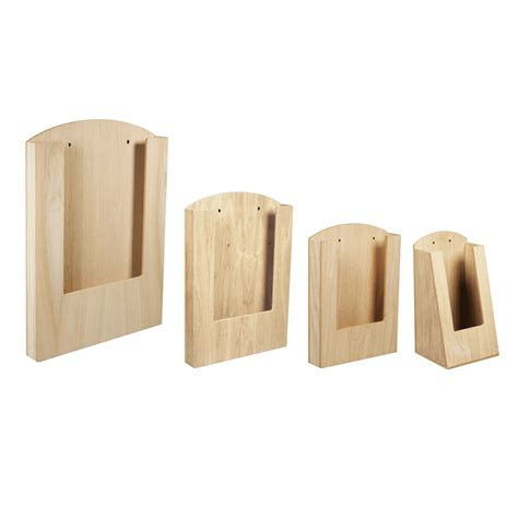 Pocket Wooden Menu Holder in A3, A4, A5 or 1/3 A4