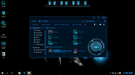 Jarvis SkinPack for Win10 released - Skin Pack Theme for