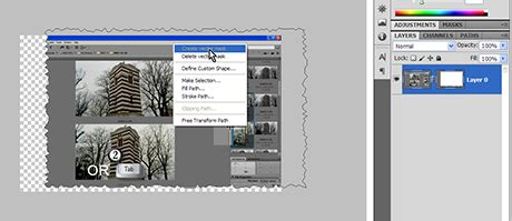 How to create torn edges in Photoshop