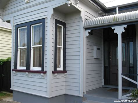A grey baseds exterior colour scheme in keeping with the