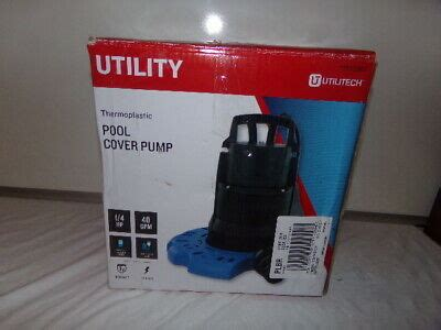 NEW Utilitech Thermoplastic Plug-In Pool Cover Pump: 1/4