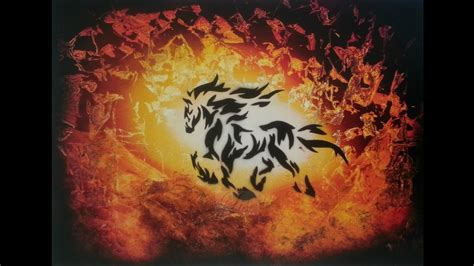 Spray paint art - Fire Horse - made by Lise - YouTube