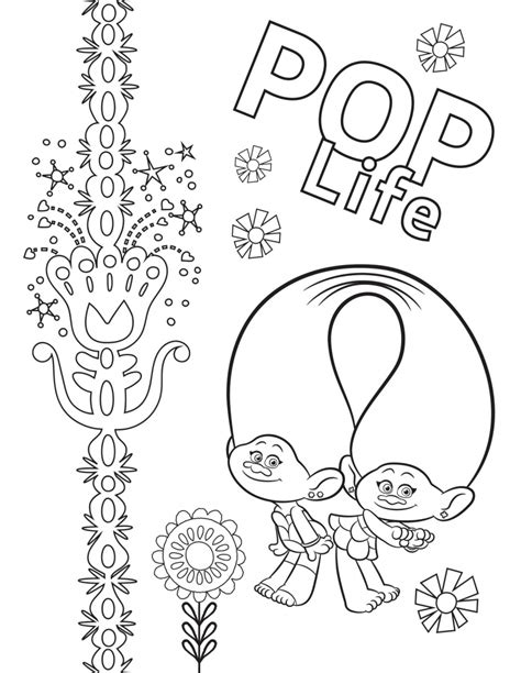 Trolls World Tour coloring pages - YouLoveIt