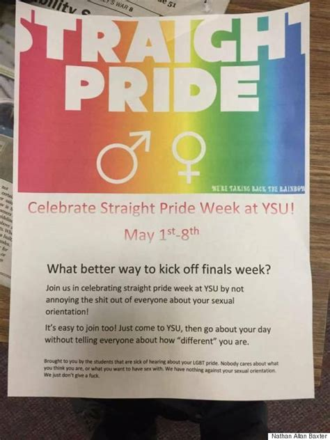 'Straight Pride' Posters Appear On Ohio's Youngstown State