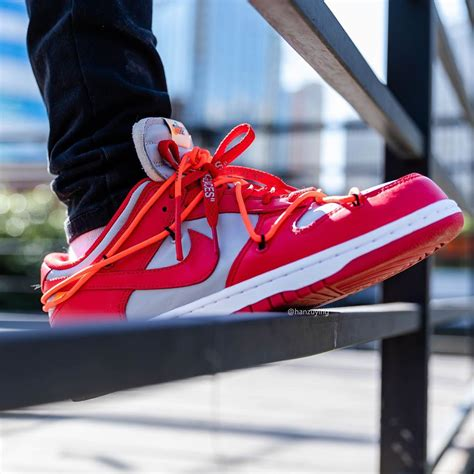 """Off-White x Nike Dunk Low """"University Red"""""""