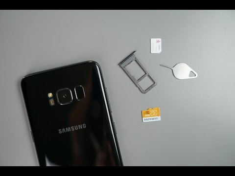Galaxy S8 - How To Install A SIM & Micro SD Card - YouTube