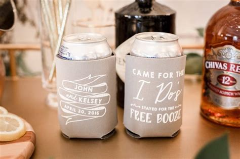 WEDDING KOOZIES FAVORS: Where to Buy the Best Can Coolers