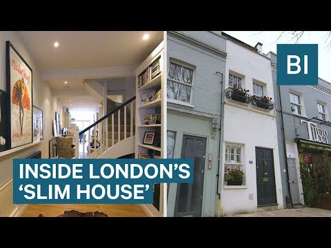 Look inside London's thinnest house with five floors on