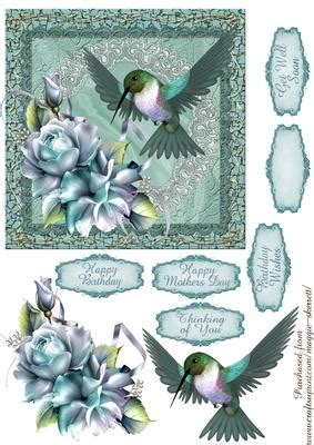 Hummingbird and Rose 3 Quick Card Front - CUP679539_2120